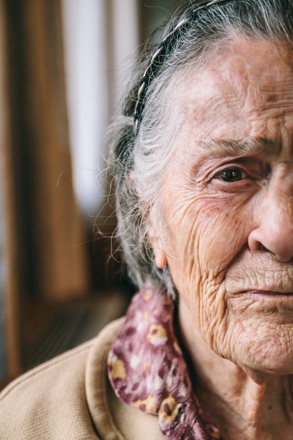 Senior Woman Worried Life Insurance Trust